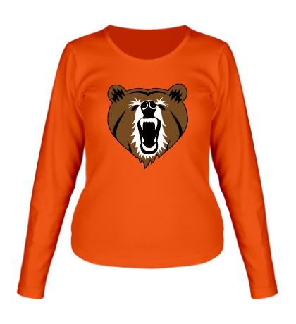 Женский лонгслив Бурый медведь