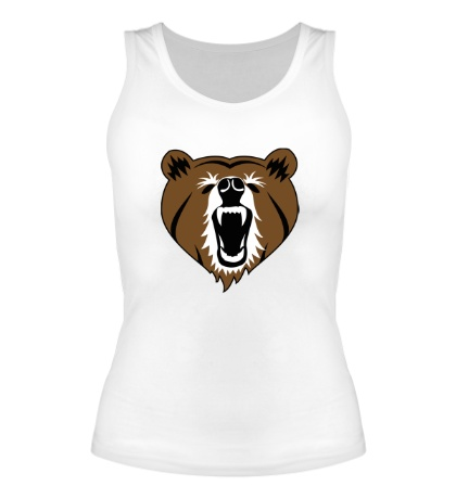 Женская майка Бурый медведь