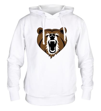 Толстовка с капюшоном Бурый медведь