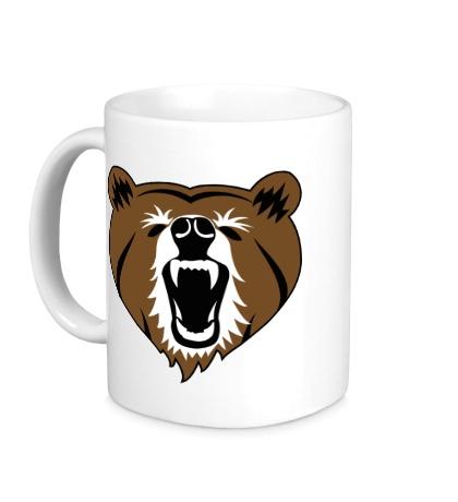 Керамическая кружка Бурый медведь