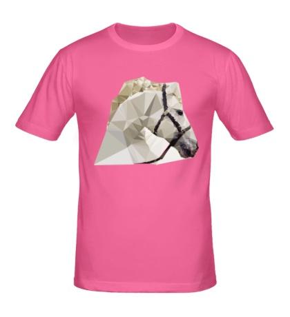 Мужская футболка Абстрактная голова коня