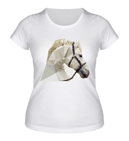 Женская футболка Абстрактная голова коня