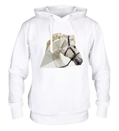 Толстовка с капюшоном Абстрактная голова коня