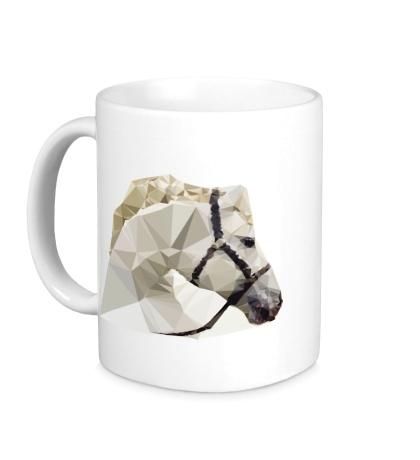 Керамическая кружка Абстрактная голова коня