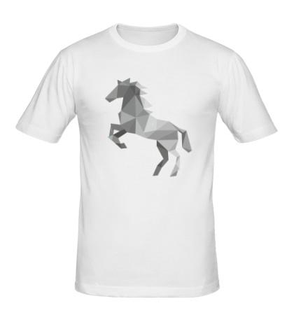 Мужская футболка Абстрактный конь
