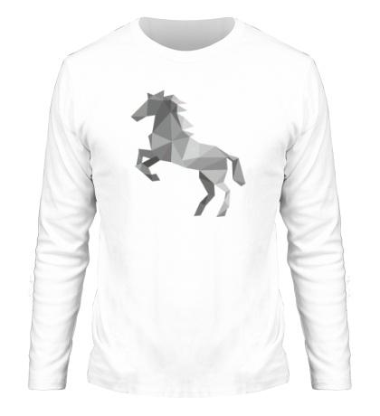 Мужской лонгслив Абстрактный конь