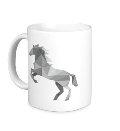 Керамическая кружка Абстрактный конь