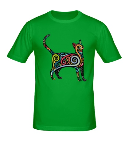 Мужская футболка Декоративный кот