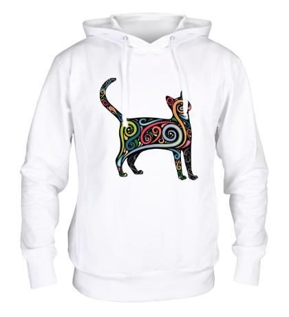 Толстовка с капюшоном Декоративный кот