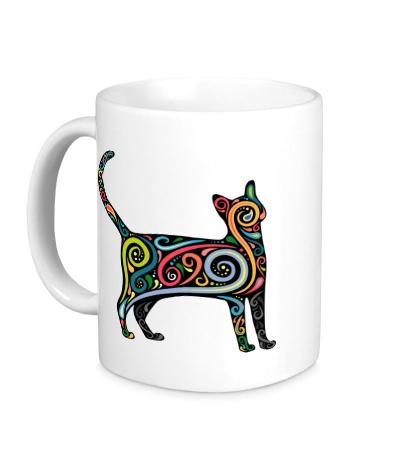 Керамическая кружка Декоративный кот