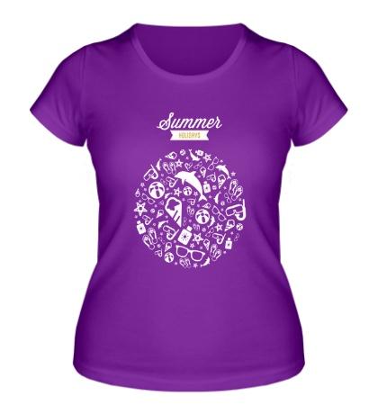 Женская футболка Летние каникулы
