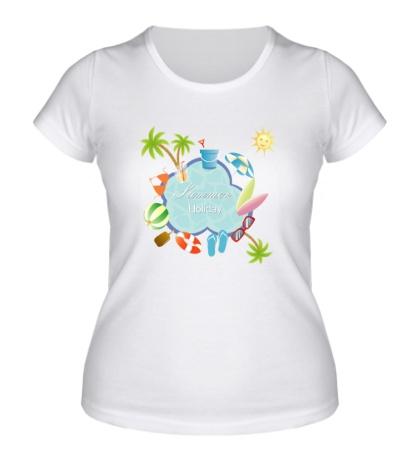 Женская футболка Summer holiday