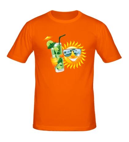 Мужская футболка Солнце с мохито