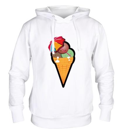 Толстовка с капюшоном Мороженое