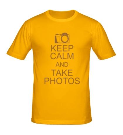 Мужская футболка Keep Calm and take photos
