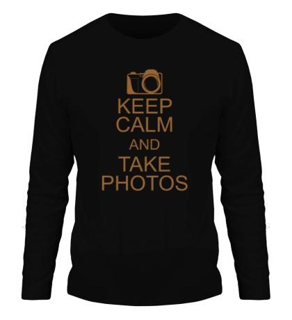 Мужской лонгслив Keep Calm and take photos