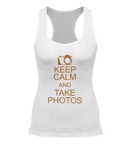 Женская борцовка Keep Calm and take photos