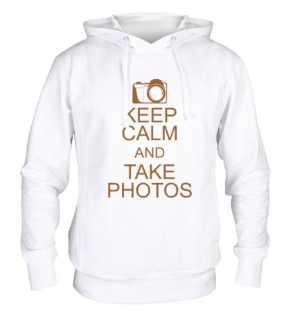 Толстовка с капюшоном Keep Calm and take photos