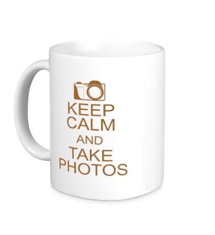 Керамическая кружка Keep Calm and take photos