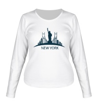 Женский лонгслив New York