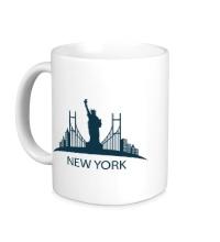 Керамическая кружка New York