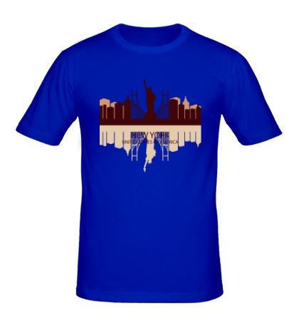 Мужская футболка New York, USA