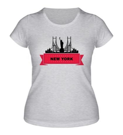 Женская футболка Нью-Йорк