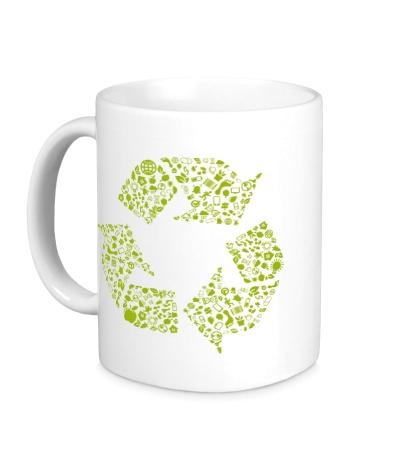 Керамическая кружка Экология
