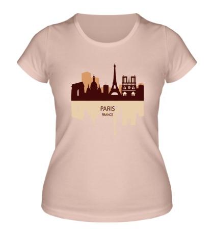 Женская футболка Paris, France