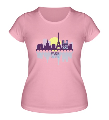 Женская футболка Paris