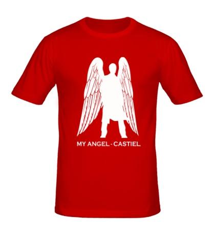 Мужская футболка My angel Castiel