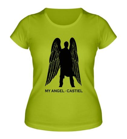 Женская футболка My angel Castiel
