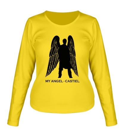 Женский лонгслив My angel Castiel
