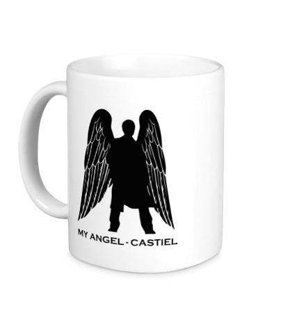Керамическая кружка My angel Castiel