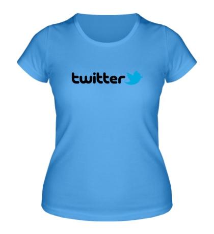 Женская футболка Twitter