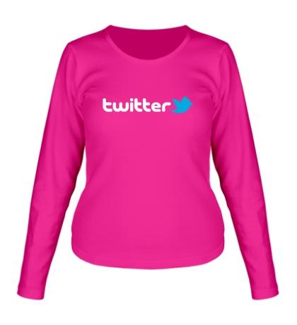 Женский лонгслив Twitter