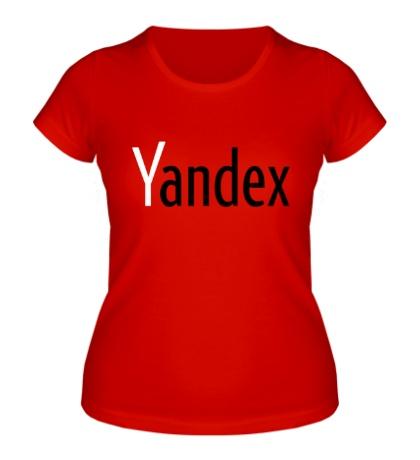 Женская футболка Yandex