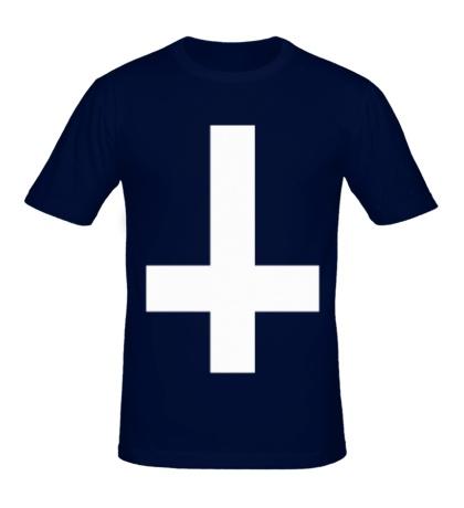 Мужская футболка «Крест атеиста»