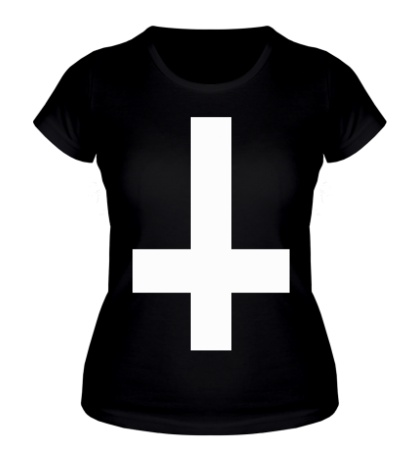 Женская футболка Крест атеиста