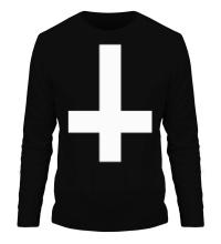 Мужской лонгслив Крест атеиста