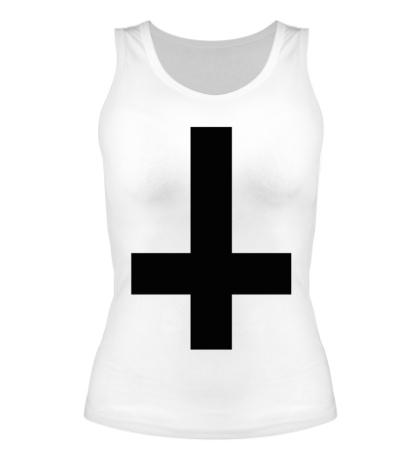 Женская майка Крест атеиста