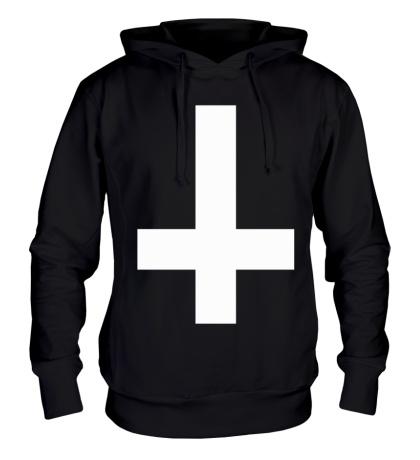 Толстовка с капюшоном Крест атеиста