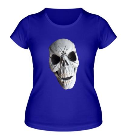 Женская футболка Череп страшный полноцветный