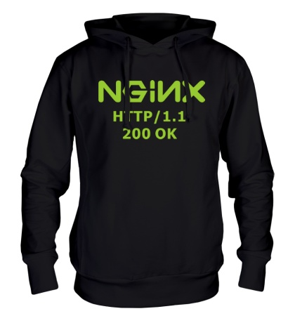 Толстовка с капюшоном Nginx 200 OK