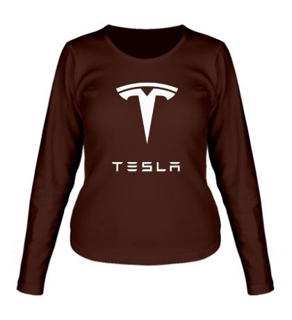Женский лонгслив Tesla