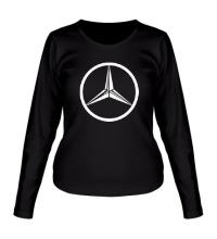 Женский лонгслив Mercedes Mark