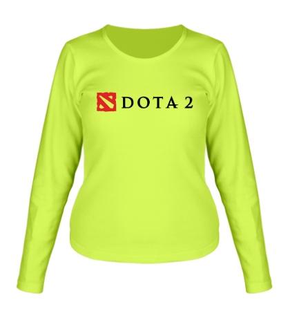 Женский лонгслив Dota 2 Logo