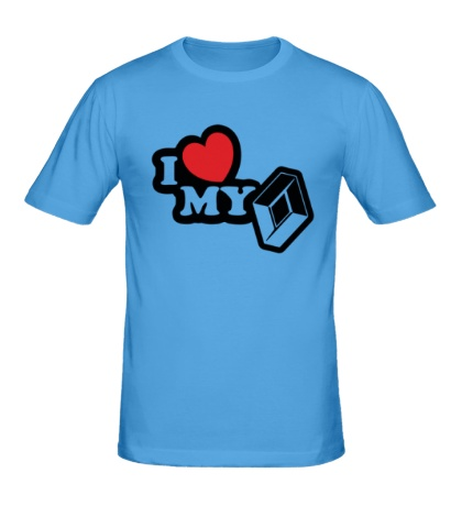 Мужская футболка I love my renault