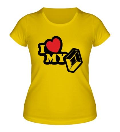 Женская футболка I love my renault