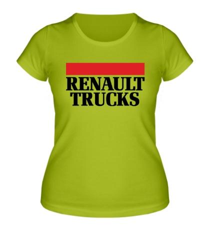 Женская футболка Renault Trucks